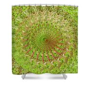 Green Grass Swirled Shower Curtain