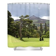 Green Green Garden And Mountain Shower Curtain