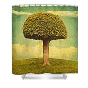 Green Growing Lullaby Shower Curtain