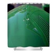 Green Hotrod Shower Curtain