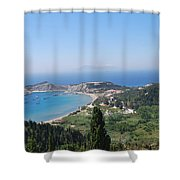 Green Island Erikousa Shower Curtain