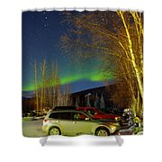Green Lady Dancing 37 Shower Curtain