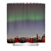 Green Lady Dancing 44 Shower Curtain