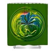 Green Leaf Orb Shower Curtain