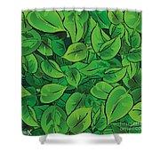 Green Leaves - V1 Shower Curtain