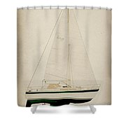 Green Lm Shower Curtain