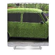 Green Mini Shower Curtain