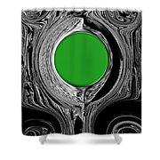 Green Mirror Shower Curtain