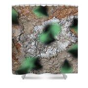 Green Moths Shower Curtain