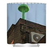 Green Mushroom By Nagel Shower Curtain