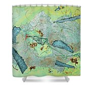 Green Of The Earth Plane Shower Curtain