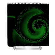 Green On Black 1 Shower Curtain