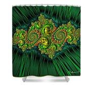 Green Ornament Shower Curtain