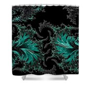 Green Paisley - A Fractal Abstract Shower Curtain