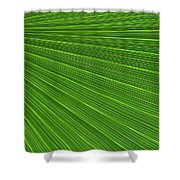 Green Palm Abstract Shower Curtain