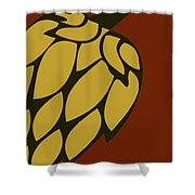 Green Passion Hops Shower Curtain