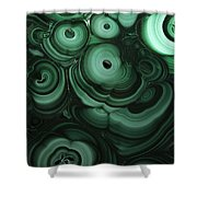 Green Patterns Of Malachite Shower Curtain