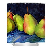 Green Pears Shower Curtain