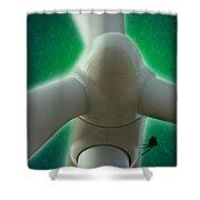 Green Power Shower Curtain
