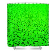Green Representational Abstract Shower Curtain