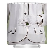 Green Ring Shower Curtain