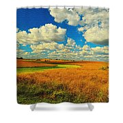 Green River Texturized Shower Curtain