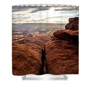 Green River View Shower Curtain by Dustin  LeFevre