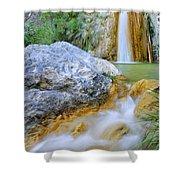 Green River Waterfalls Shower Curtain