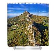 Green Scenery Of Kalnik Mountain Ridge Shower Curtain