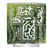 Green Simplicity Shower Curtain