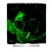 Green Skull Shower Curtain