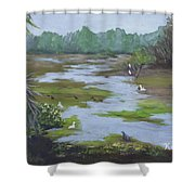 Green Slime Shower Curtain