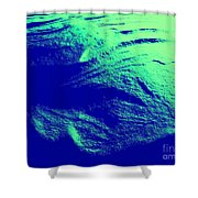 Green Snow Dune Abstract Shower Curtain