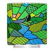 Green Spring Morning Shower Curtain