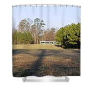 Green Stables - Lake Wheeler Road Shower Curtain