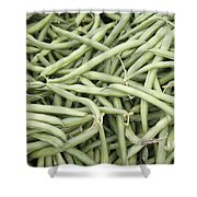Green String Beans Display Shower Curtain
