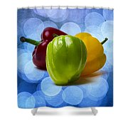 Green Sweet Pepper - Square - Textured Shower Curtain