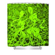 Green Tango Rhythms Shower Curtain