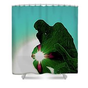 Green Thinker Shower Curtain