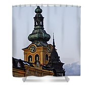Green Tower Shower Curtain