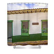 Green Trim Shower Curtain