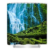 Green Waterfall Shower Curtain
