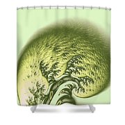 Green Wave Shower Curtain
