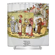 Greenaway: Illustration Shower Curtain