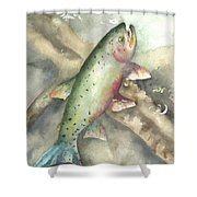 Greenback Cutthroat Trout Shower Curtain