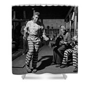 Greene Country Convict Camp In Georgia 1941 Shower Curtain by Mountain Dreams
