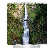 Greenery Of Multnomah Falls Shower Curtain
