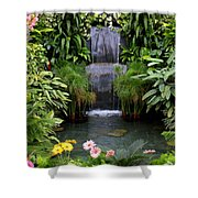 Greenhouse Garden Waterfall Shower Curtain