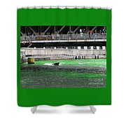 Greening The Chicago River Shower Curtain