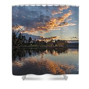 Greenlake Autumn Sunset Shower Curtain